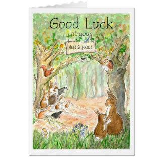 New School Good Luck Card