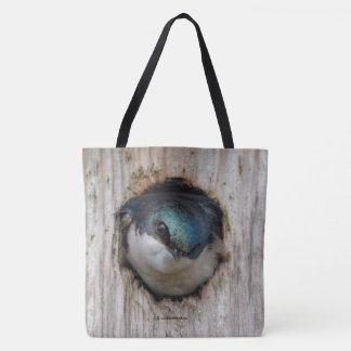 New Tree Swallow, New Nestbox Owner Tote Bag