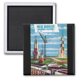 New Worlds 40 Square Magnet