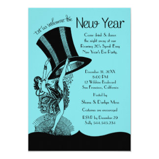 New Year's Eve Roaring 20's Party 13 Cm X 18 Cm Invitation Card