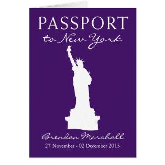 New York City 40th Birthday Passport Note Card