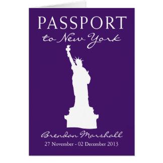 New York City Birthday Passport Note Card