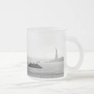 New York City Harbor - Statue of Liberty Frosted Glass Mug