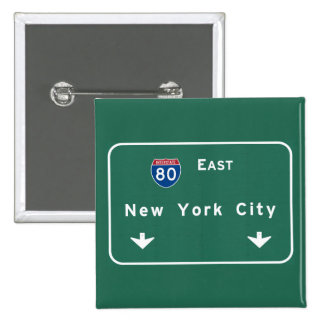 New York City Interstate Highway Freeway Road Sig 15 Cm Square Badge