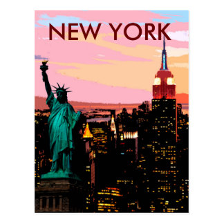 New York City Liberty of Statue Vintage Postcard
