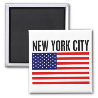 New York City, Stars and Stripes Square Magnet