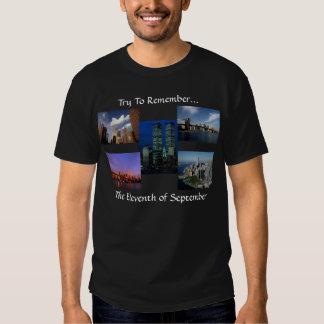 New York City Twin Towers WTC Views In Memoriam T Shirt