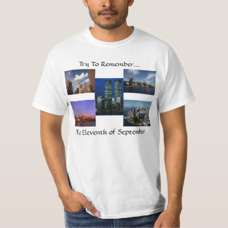 New York City Twin Towers WTC Views In Memoriam Tee Shirts