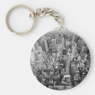 New York from Above Basic Round Button Key Ring