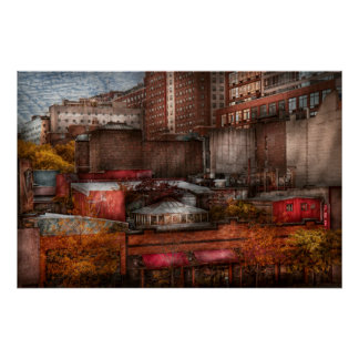 New York - Greenwich Village - Abstract city Poster