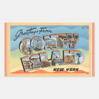 New York, Sheet of 4 Coney Island stickers