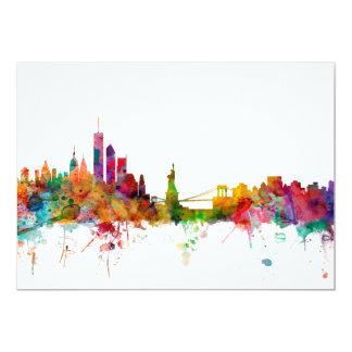 New York Skyline 13 Cm X 18 Cm Invitation Card
