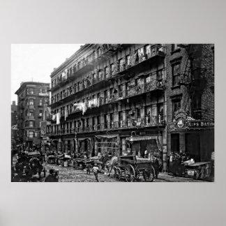 New York Tenement - 1912 Poster