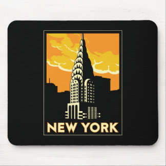 new york united states usa vintage retro travel mouse pad