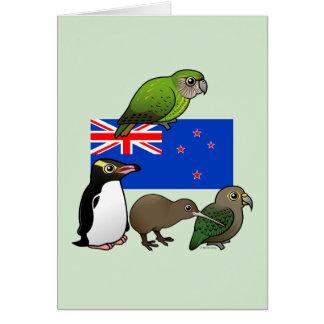 New Zealand Birdorables Greeting Card