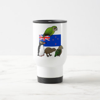 New Zealand Birdorables Stainless Steel Travel Mug