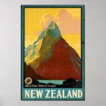 New Zealand Travel Vintage Poster