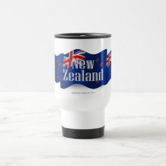 New Zealand Waving Flag Stainless Steel Travel Mug