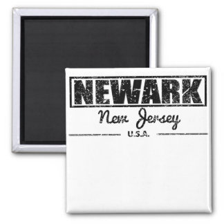 Newark New Jersey Square Magnet