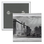 Newgate prison and the Old Bailey 15 Cm Square Badge