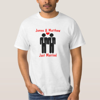 Newly Weds Two Grooms With Heart Customizable Shirts