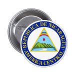 NICARAGUA -  flag/emblem/coat of arms/symbol 6 Cm Round Badge