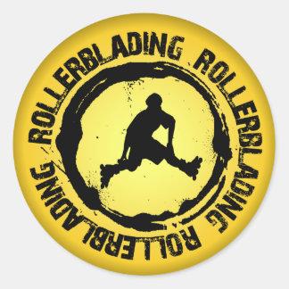Nice Rollerblading Seal Round Sticker