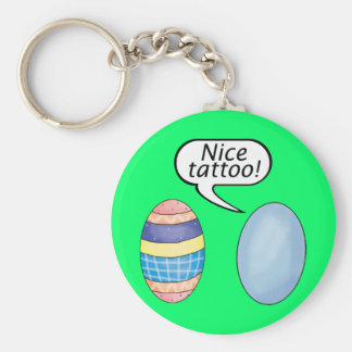 Nice Tattoo Easter Eggs Basic Round Button Key Ring