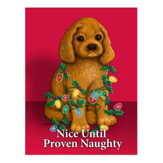 Nice until Proven Naughty Postcard