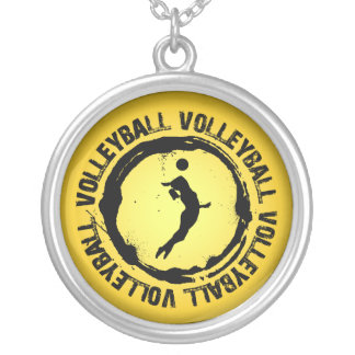 Nice Volleyball  Seal (Female) Round Pendant Necklace