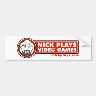 Nick Plays Video Games Big Sticker Bumper Sticker