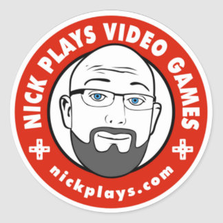 Nick Plays Video Games Round Stickers