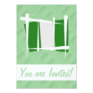 Nigeria Brush Flag 13 Cm X 18 Cm Invitation Card