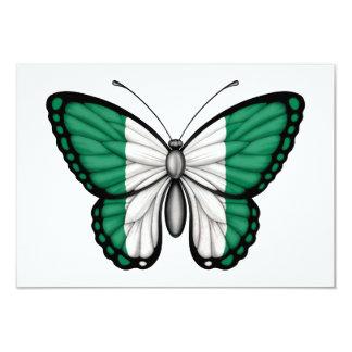Nigerian Butterfly Flag 9 Cm X 13 Cm Invitation Card