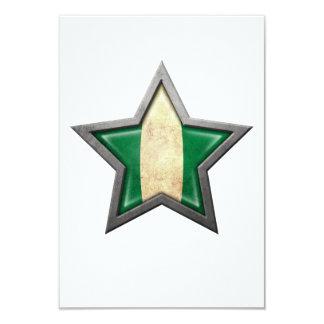 Nigerian Flag Star 9 Cm X 13 Cm Invitation Card