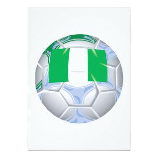 Nigerian Soccer Ball 13 Cm X 18 Cm Invitation Card