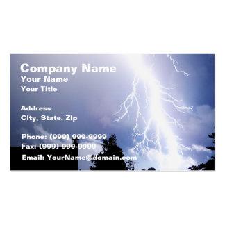 Night Lightning Pack Of Standard Business Cards