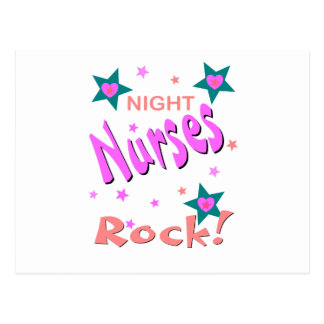 Night Nurses Rock Postcard