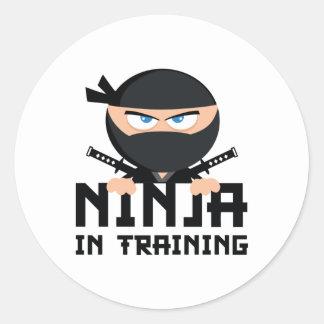 Ninja In Training Round Sticker
