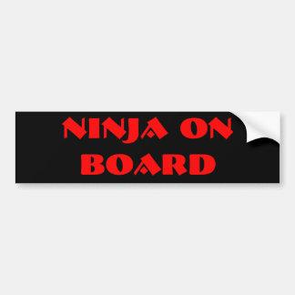 NINJA ON BOARD BUMPER STICKER