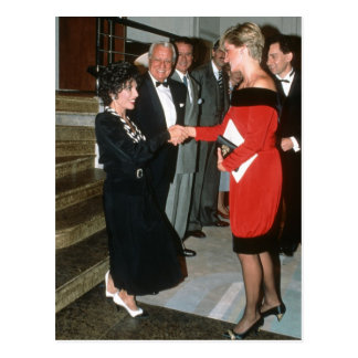 No.191 Princess Diana - Joan Collins 1990 Postcard