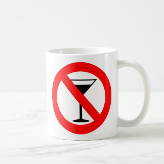 No Alcohol Sign Basic White Mug