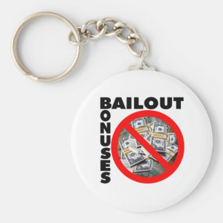 No Bail Out Basic Round Button Key Ring