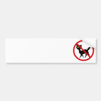 No Cats Allowed Bumper Sticker
