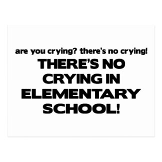 No Crying in Elementary School Postcard