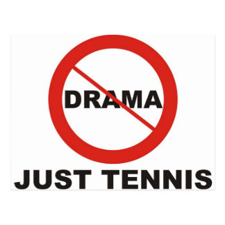 No Drama Just Tennis Postcard