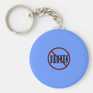 NO DRONES Peace Love You Dope Basic Round Button Key Ring