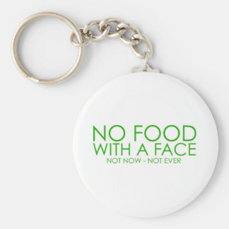 No food with a face basic round button key ring