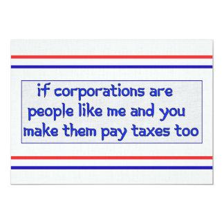 No More Corporate Welfare 13 Cm X 18 Cm Invitation Card
