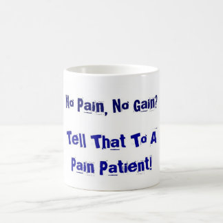 No Pain, No Gain? Basic White Mug